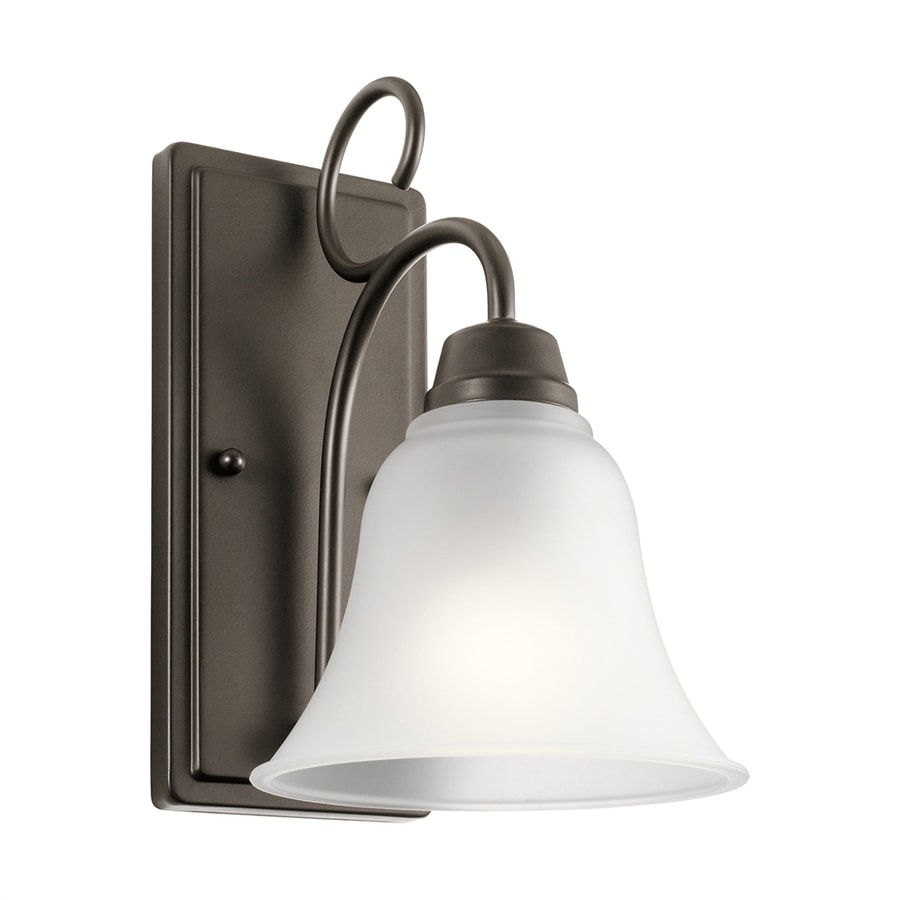 Kichler Bixler 1-Light 10.75-in Olde Bronze Bell Vanity Light
