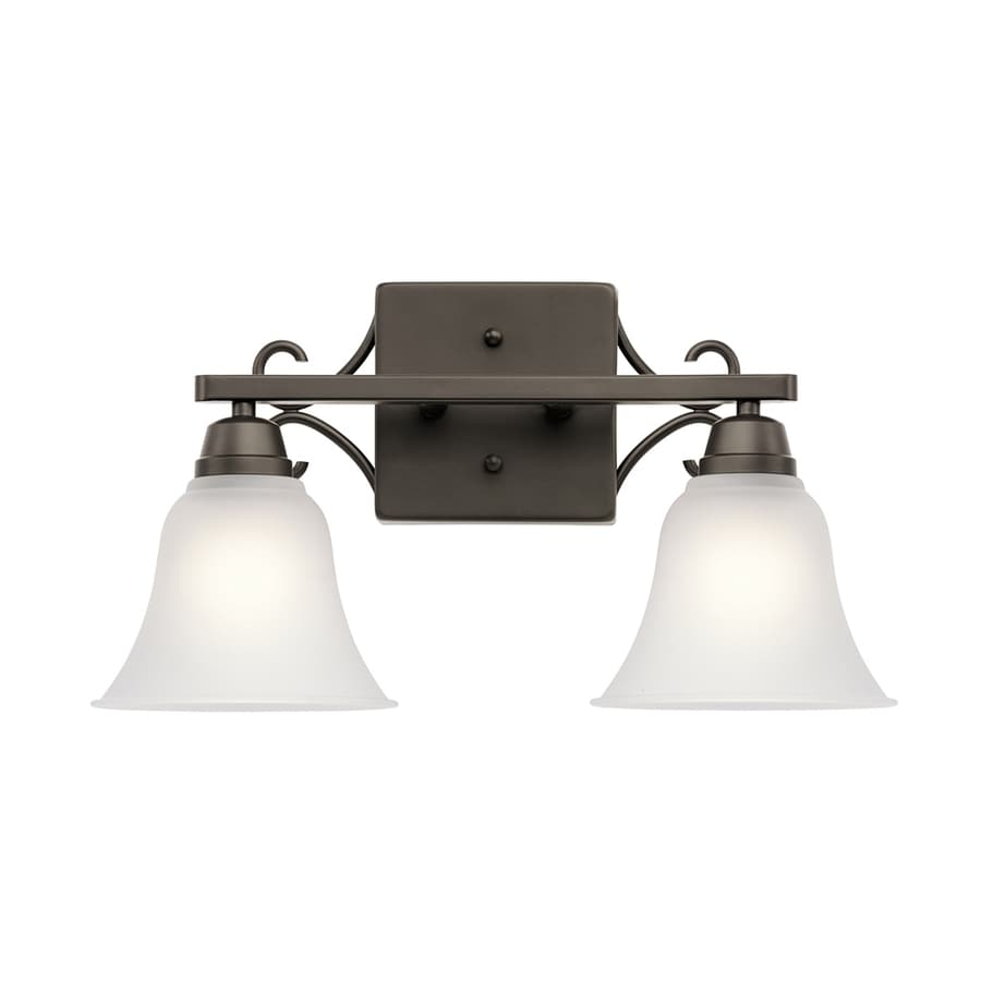 Kichler Bixler 2-Light 9.5-in Olde Bronze Bell Vanity Light