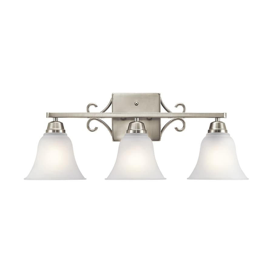 shop kichler bixler 3 light 23 75 in brushed nickel bell 13301
