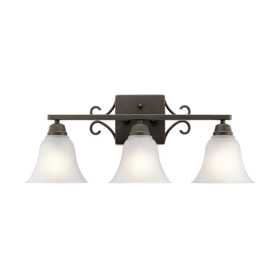 Kichler Vanity Lights Lowes : Shop Kichler Bixler 3-Light 9.25-in Olde Bronze Bell Vanity Light at Lowes.com