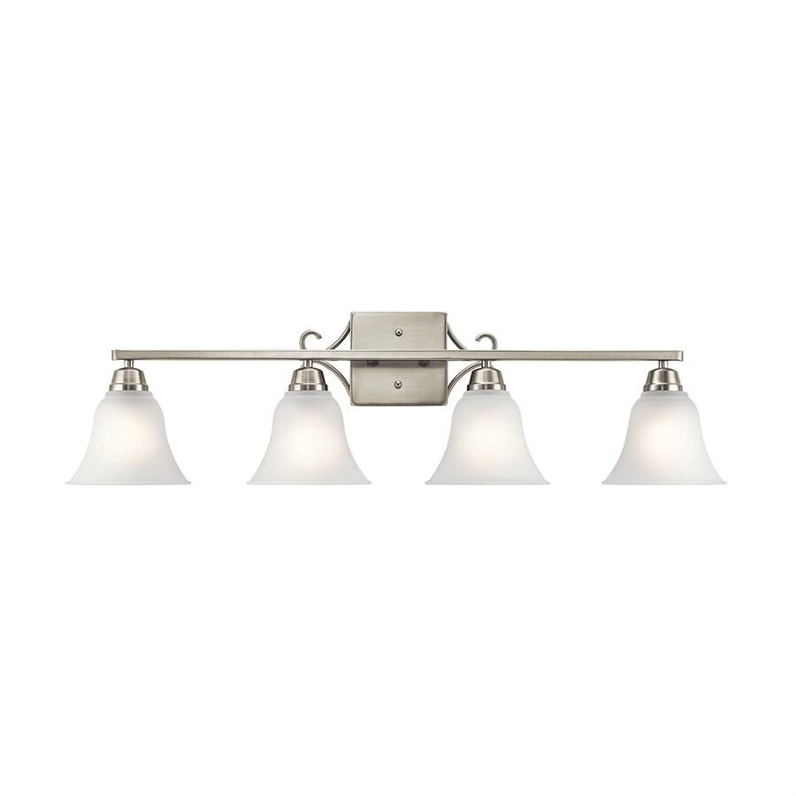 Kichler Bixler 4-Light 9.25-in Brushed Nickel Bell Vanity Light