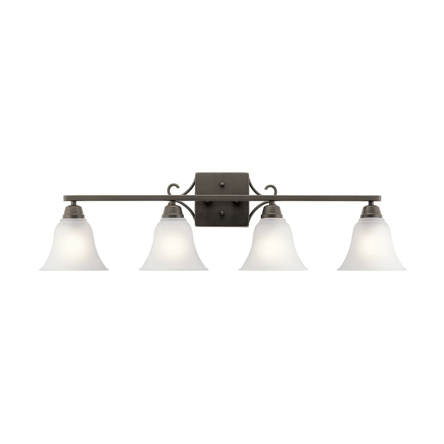 Kichler Lighting Bixler 4-Light Olde Bronze Bell Vanity Light