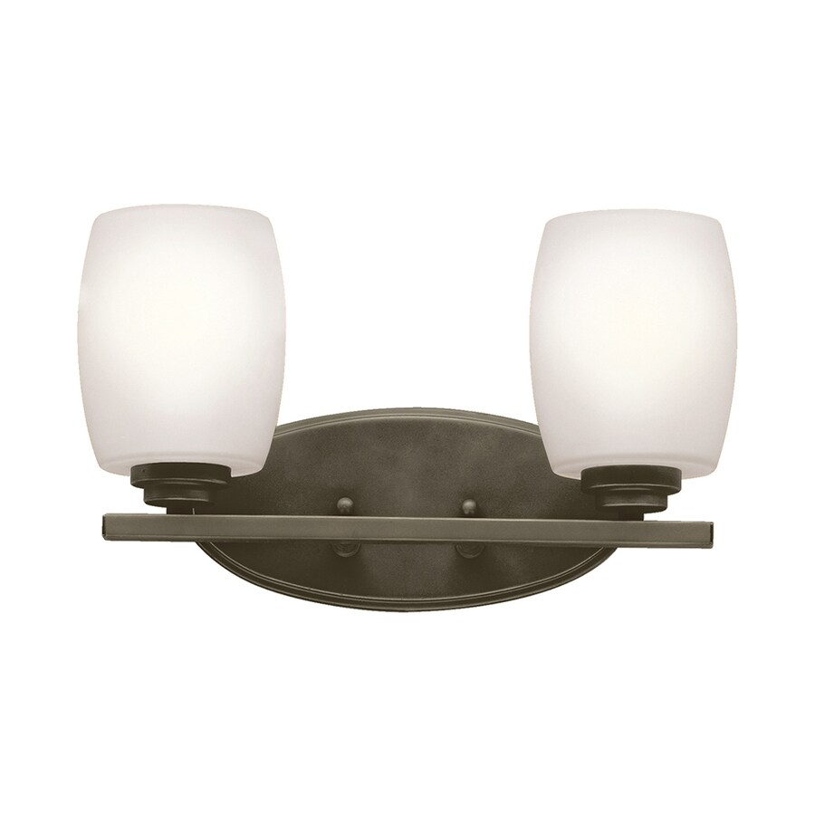 Kichler Lighting Eileen 2-Light 9.25-in Olde Bronze Cylinder Vanity Light