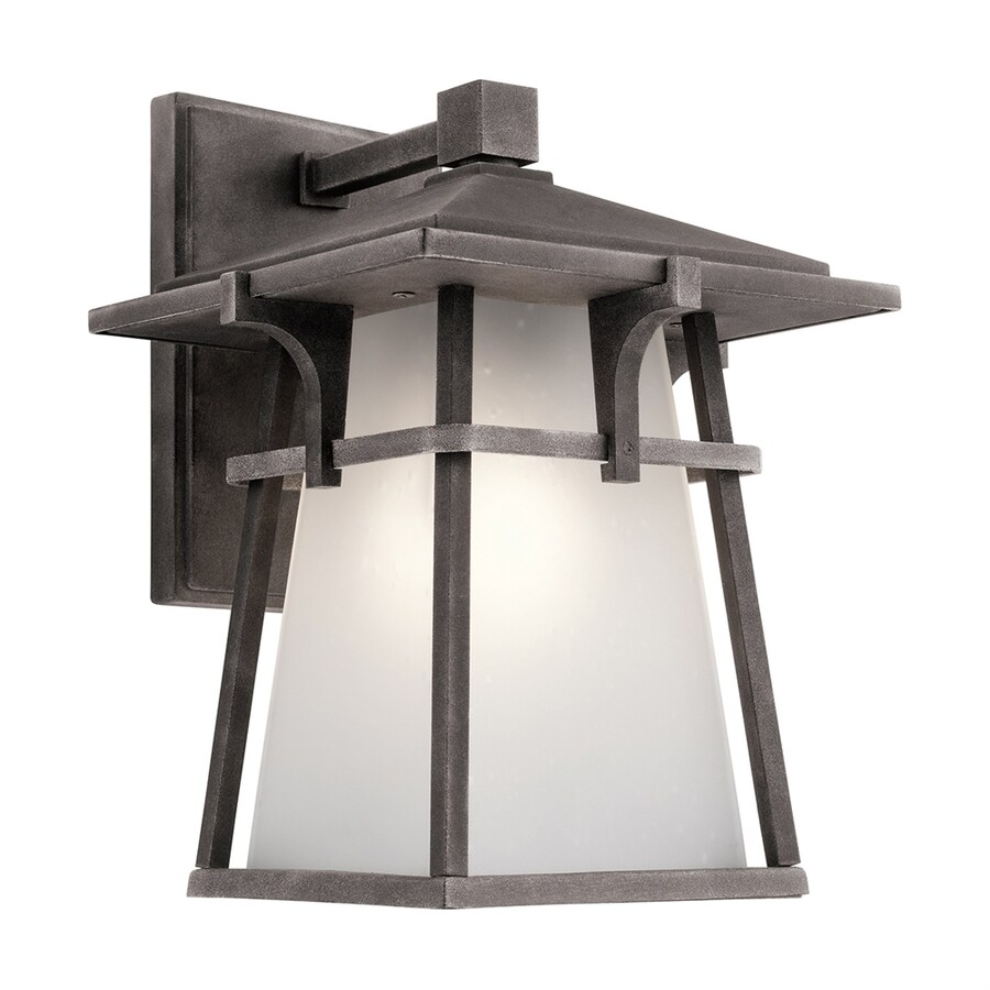 Kichler Lighting Beckett 10.75-in H Weathered Zinc Outdoor Wall Light
