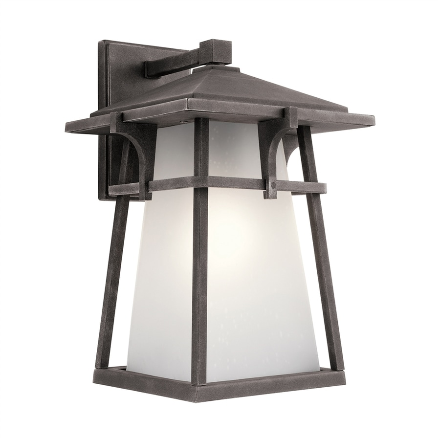 Kichler Beckett 14.5-in H Weathered Zinc Outdoor Wall Light