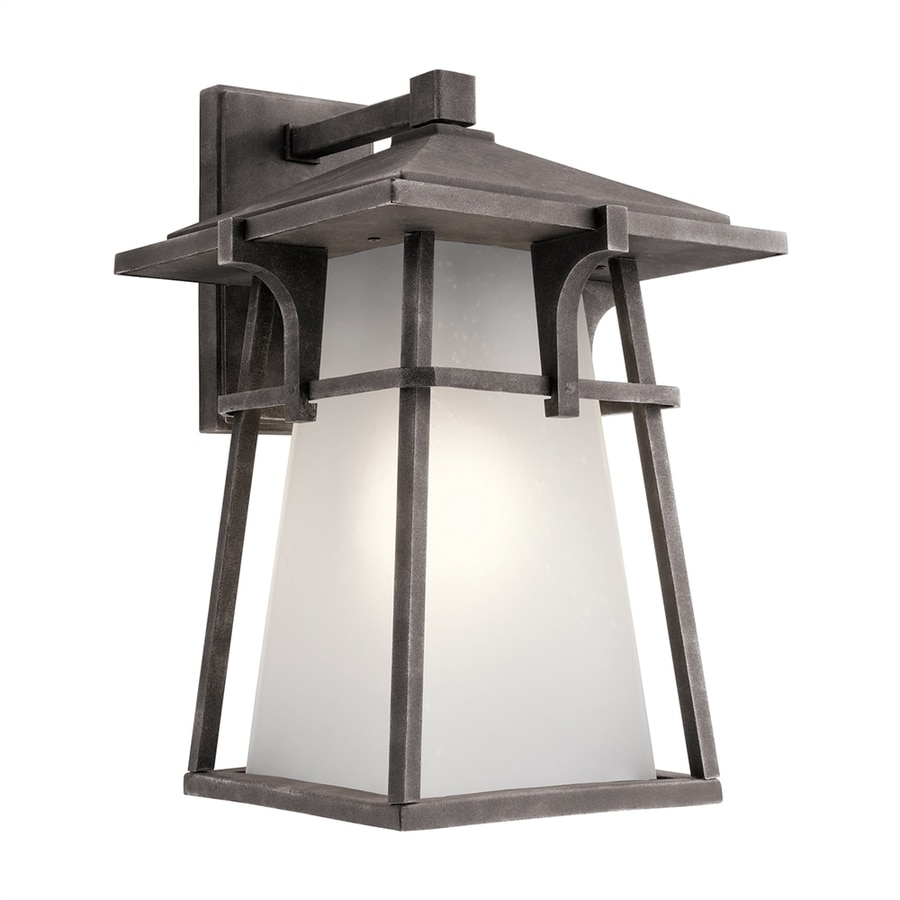 Kichler Lighting Beckett 18-in H Weathered Zinc Outdoor Wall Light