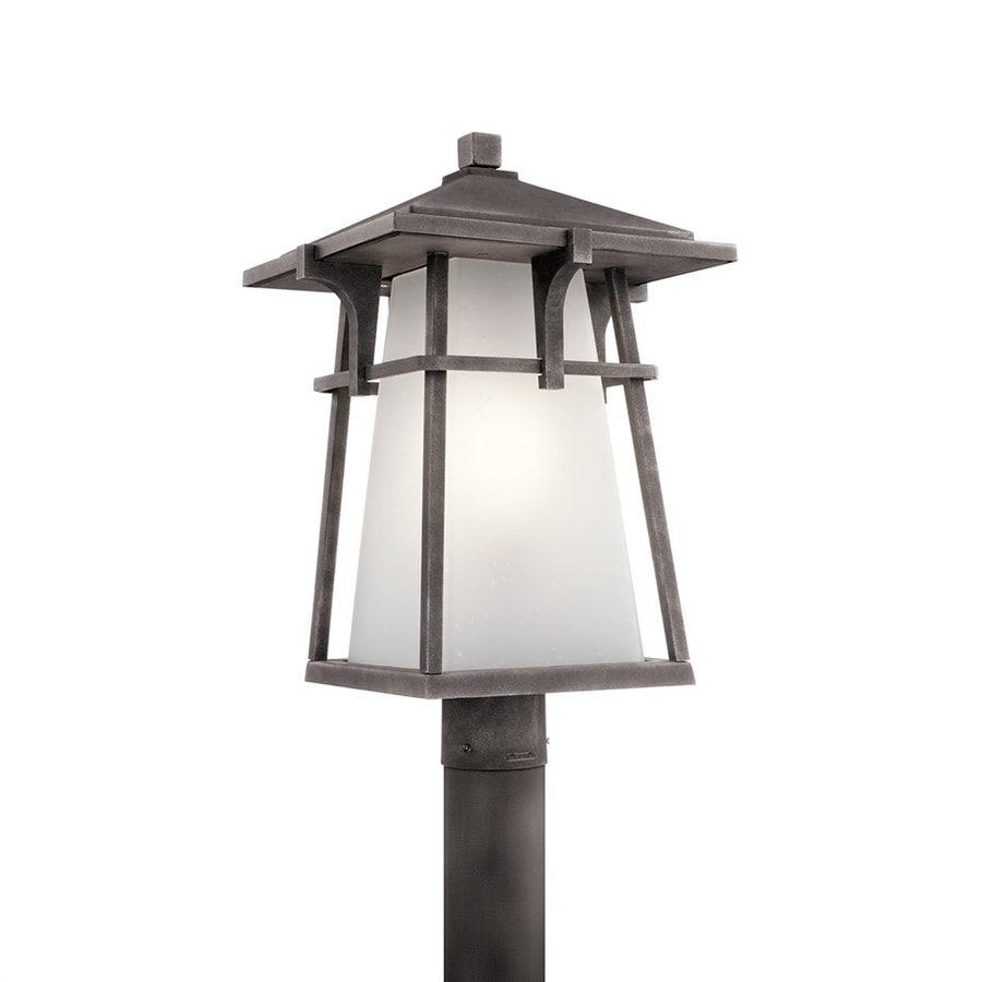 Kichler Beckett 20-in H Weathered Zinc Post Light