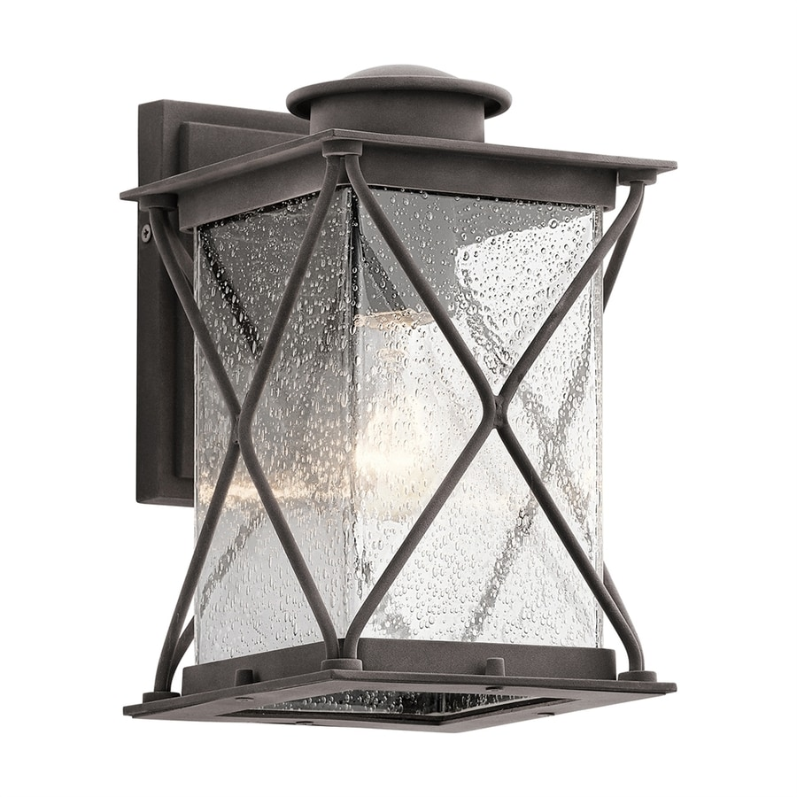Kichler Lighting Argyle 10.25-in H Weathered Zinc Outdoor Wall Light