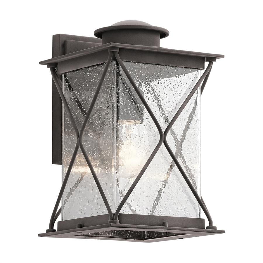 Kichler Argyle 12.75-in H Weathered Zinc Outdoor Wall Light