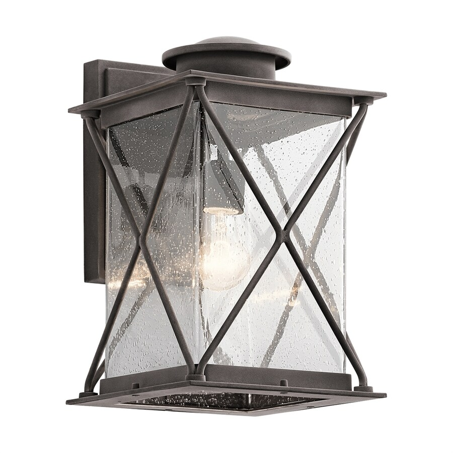 Kichler Argyle 15-in H Weathered Zinc Outdoor Wall Light