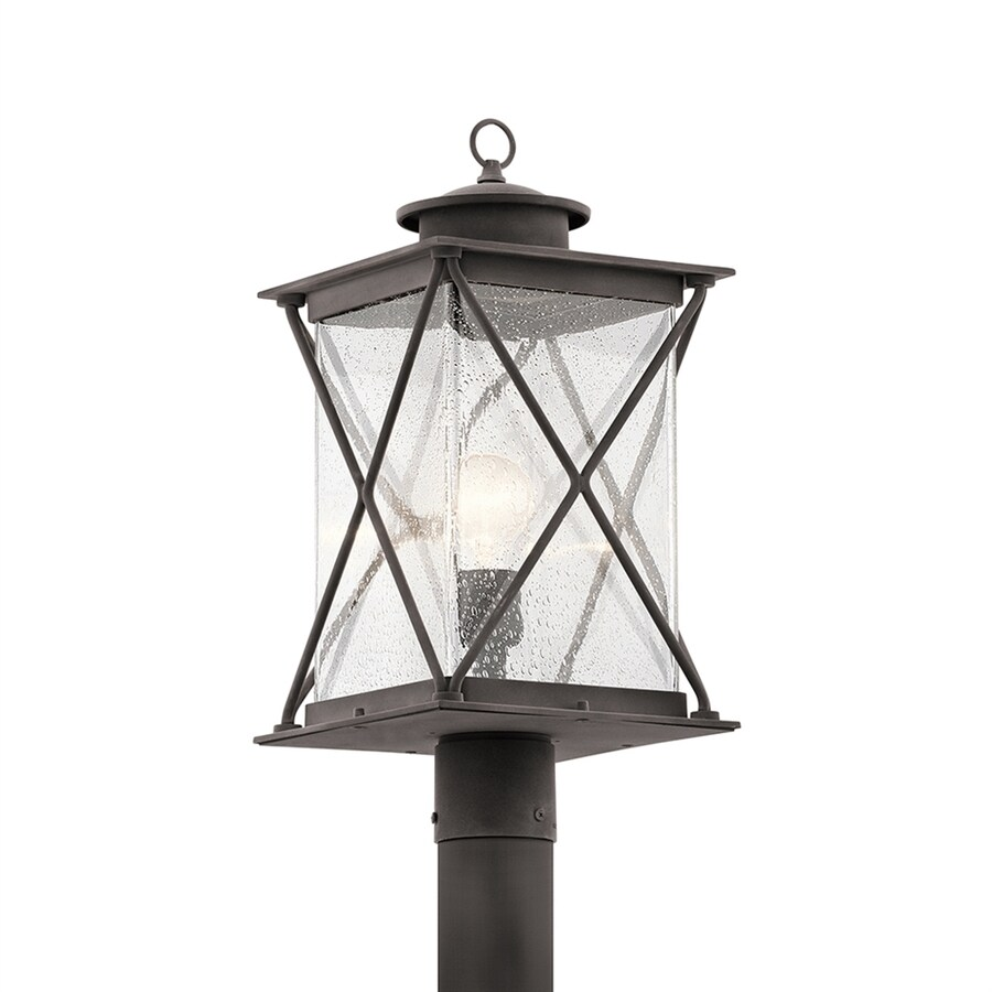 Kichler Argyle 19.5-in H Weathered Zinc Post Light