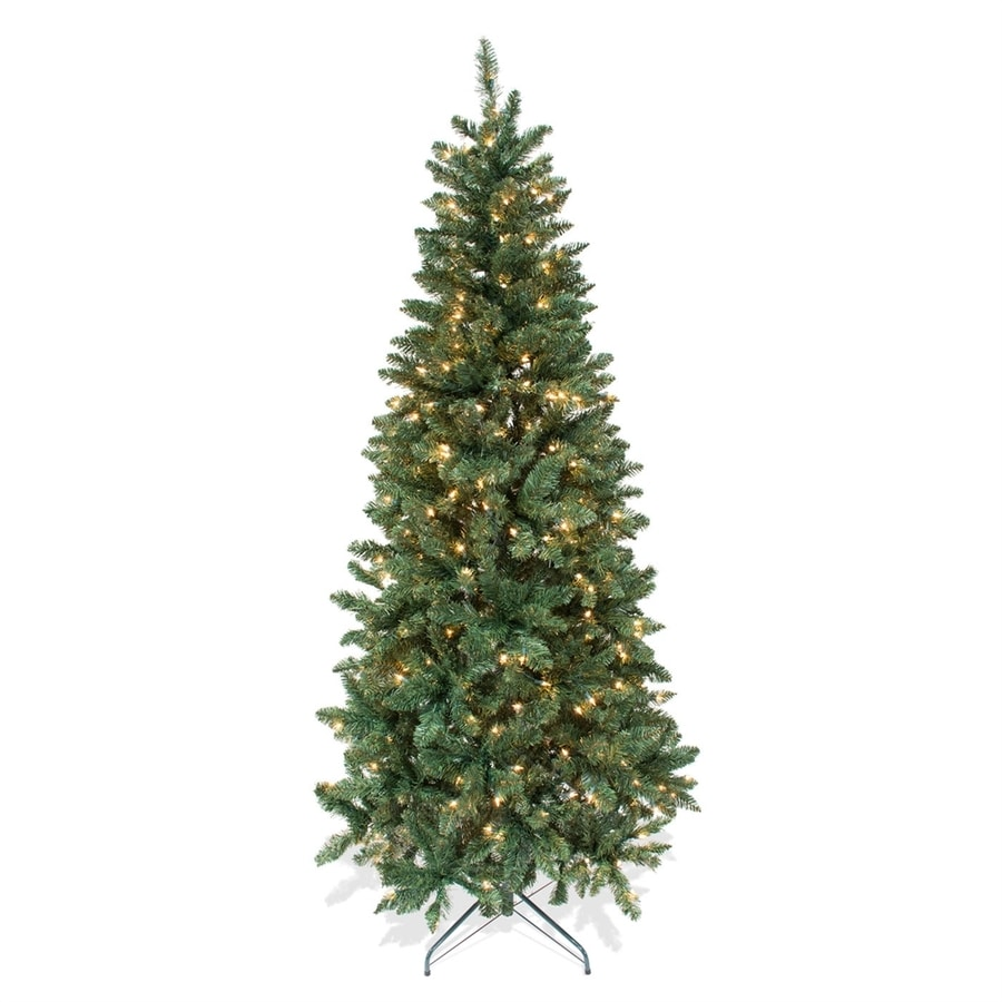Shop Astella 7-ft Pre-Lit Douglas Fir Artificial Christmas Tree ...