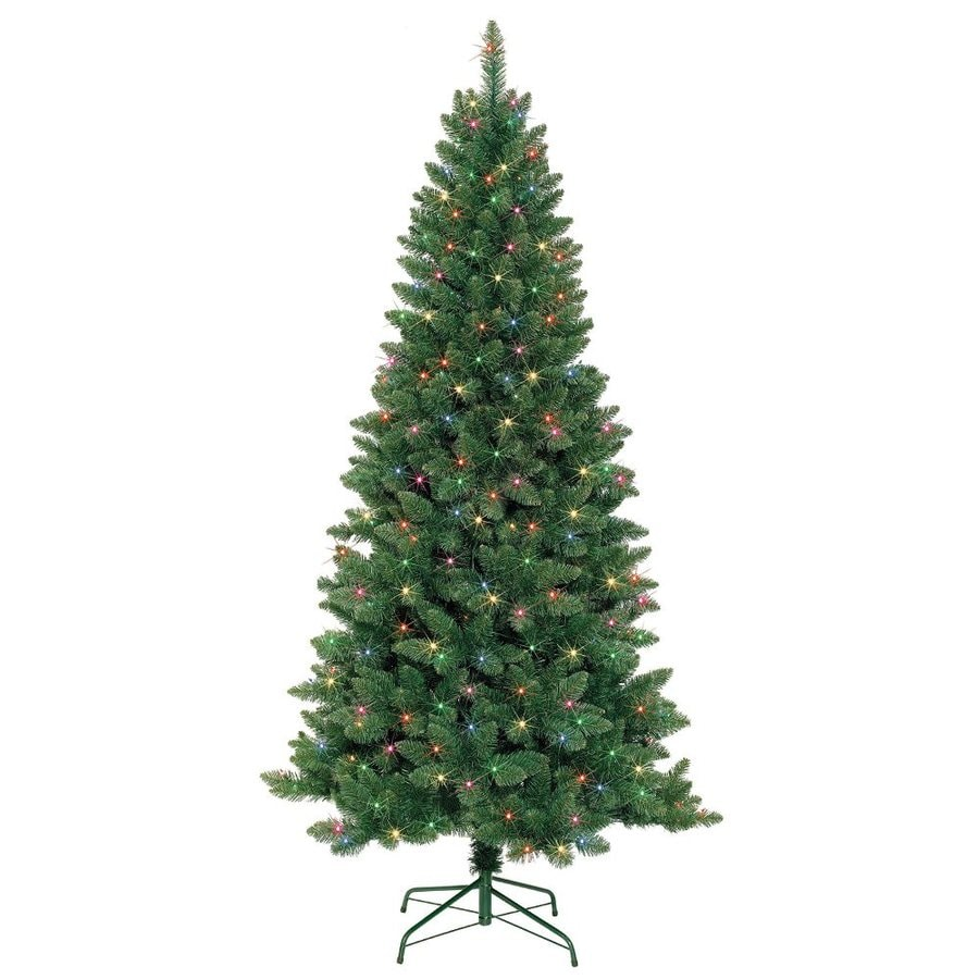 7 Ft Christmas Tree: Shop Jeco 7-ft Pre-lit Artificial Christmas Tree With 350