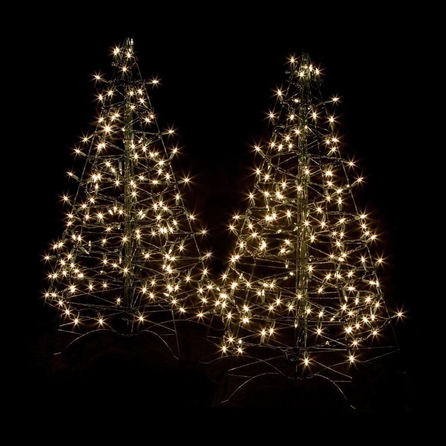 Crab Pot Trees 3-ft Pre-lit Artificial Christmas Tree with 150 Constant Clear White Incandescent Lights