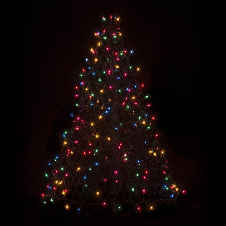 Crab Pot Trees 2-ft 11-in Pre-Lit Artificial Christmas Tree with Multicolor Incandescent Lights