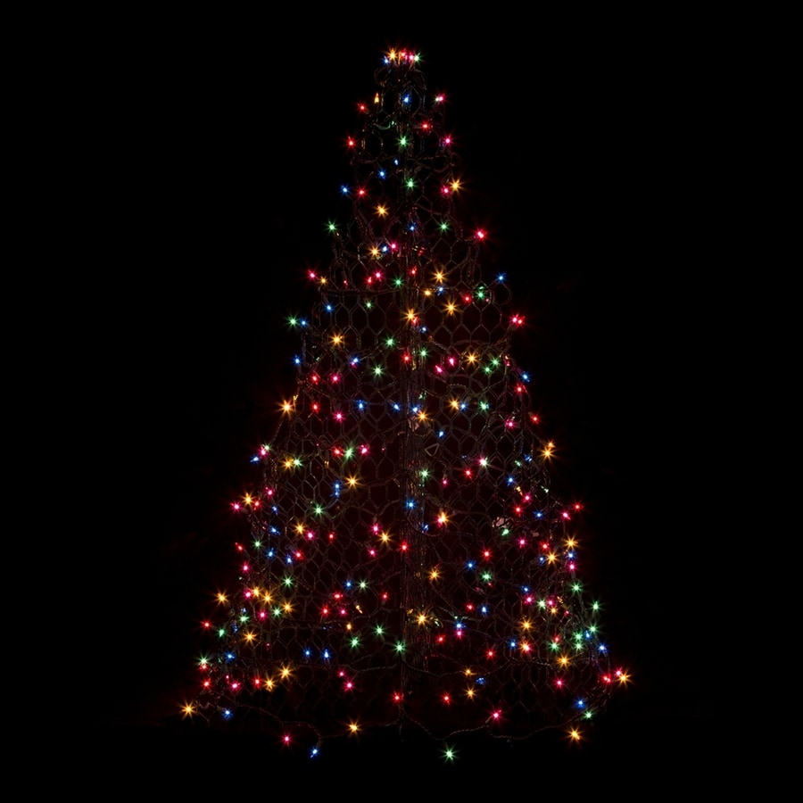 Crab Pot Trees 4-ft Pre-Lit Artificial Christmas Tree with Multicolor Incandescent Lights