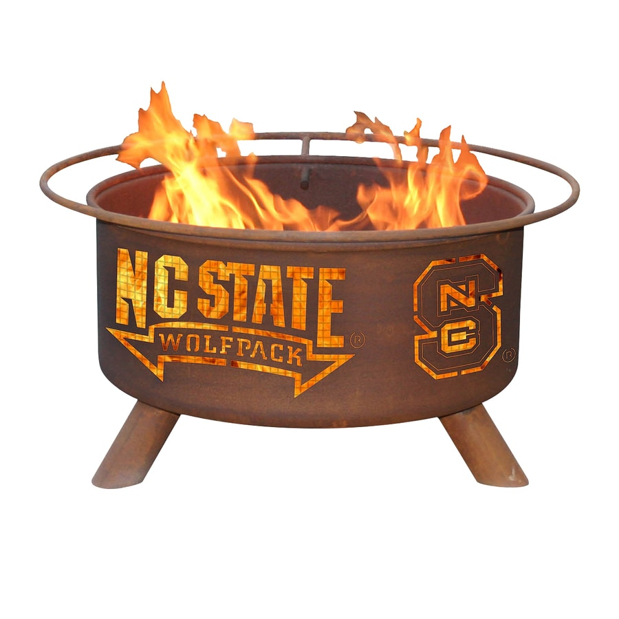 Patina Products North Carolina State University Wolfpack 24-in W Natural Rust Steel Wood-Burning Fire Pit
