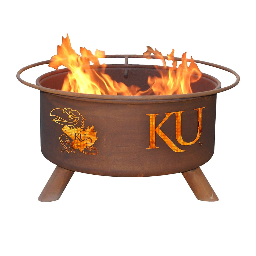 Patina Products University of Kansas Jayhawks 24-in W Natural Rust Steel Wood-Burning Fire Pit