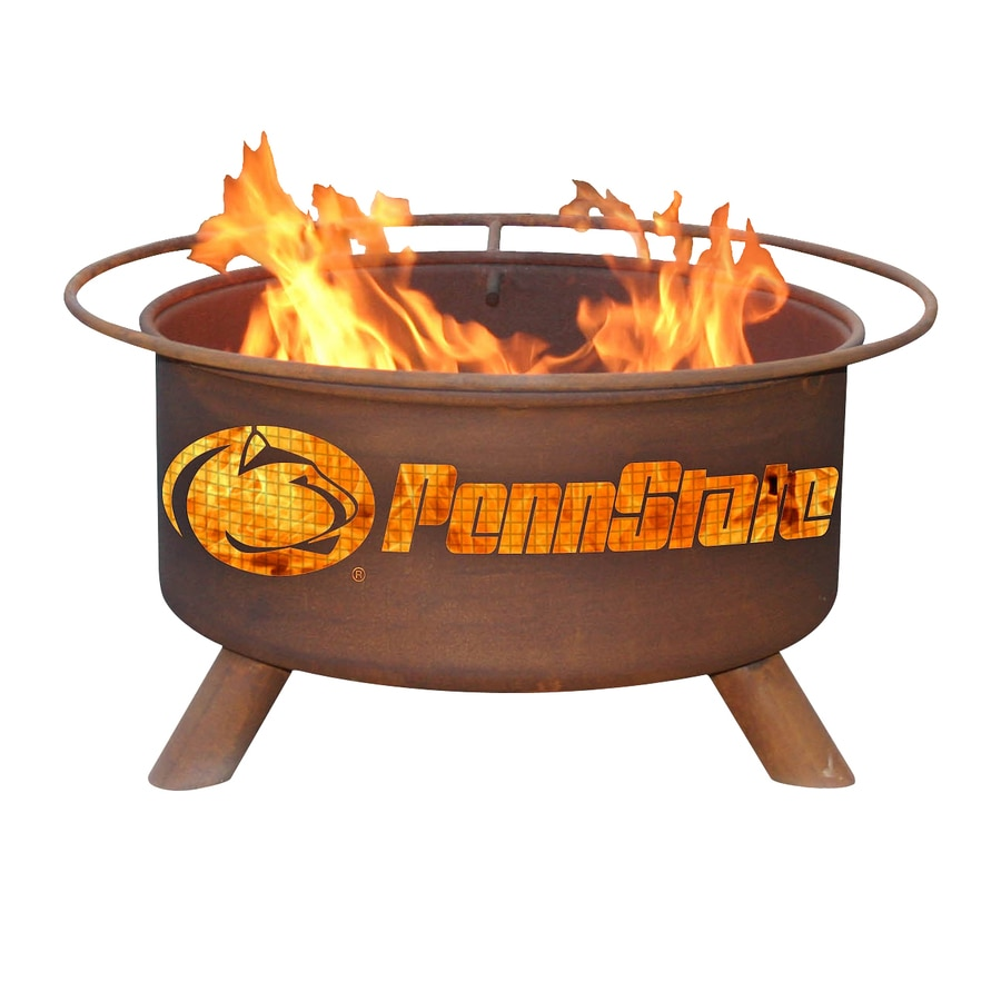 Patina Products Pennsylvania State Univeristy Nittany Lions 24-in W Natural Rust Steel Wood-Burning Fire Pit