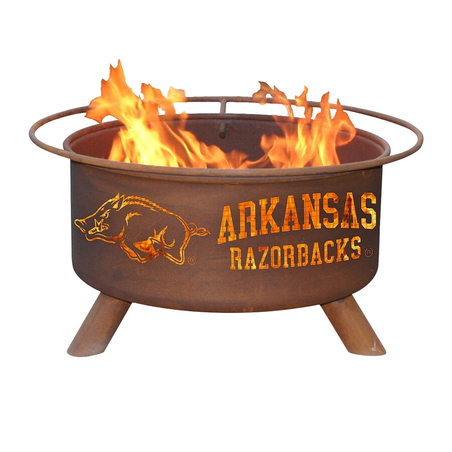 Patina Products Univeristy of Arkansas Razorbacks 24-in W Natural Rust Steel Wood-Burning Fire Pit