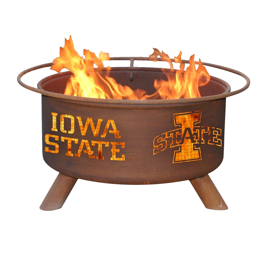 Patina Products Iowa State University Cyclones 24-in W Natural Rust Steel Wood-Burning Fire Pit