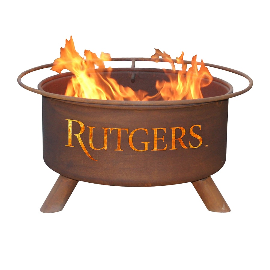 Patina Products Rutgers University Scarlet Knights 24-in W Natural Rust Steel Wood-Burning Fire Pit