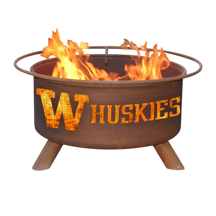 Patina Products University of Washington Huskies 24-in W Natural Rust Steel Wood-Burning Fire Pit