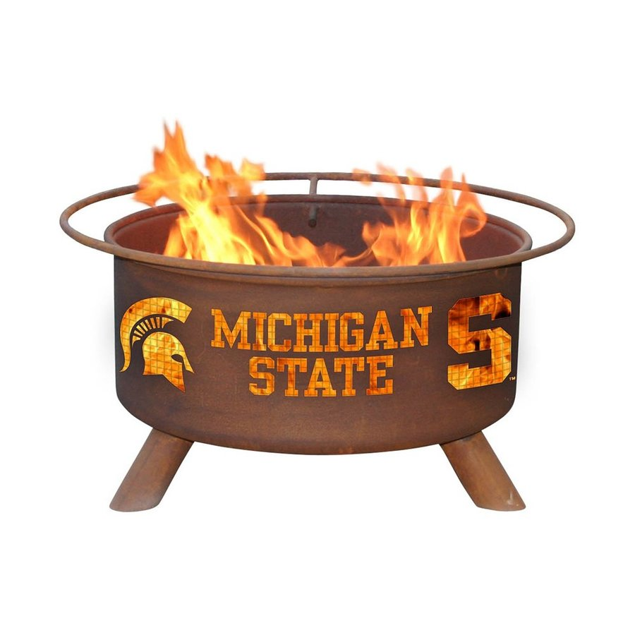 Patina Products Michigan State University Spartans 24-in W Natural Rust Steel Wood-Burning Fire Pit