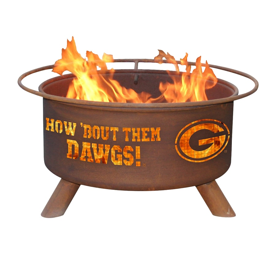 Patina Products University of Georgia Bulldogs 24-in W Natural Rust Steel Wood-Burning Fire Pit