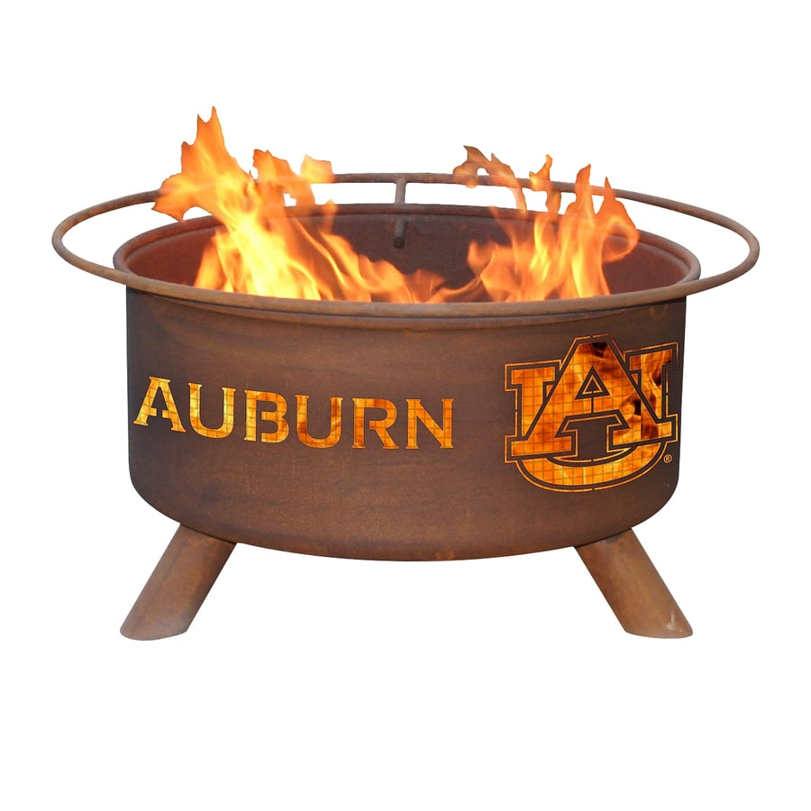 Patina Products Utah State University Aggies 24-in W Natural Rust Steel Wood-Burning Fire Pit