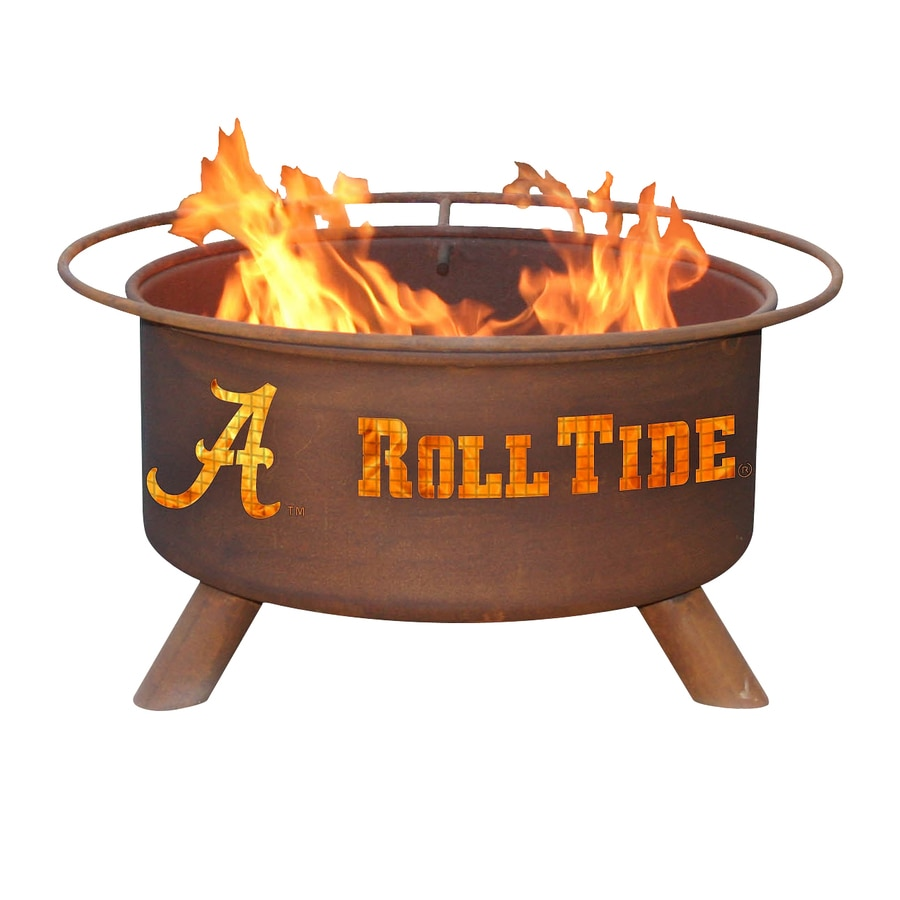 Patina Products University of Alabama Crimson Tide 24-in W Natural Rust Steel Wood-Burning Fire Pit