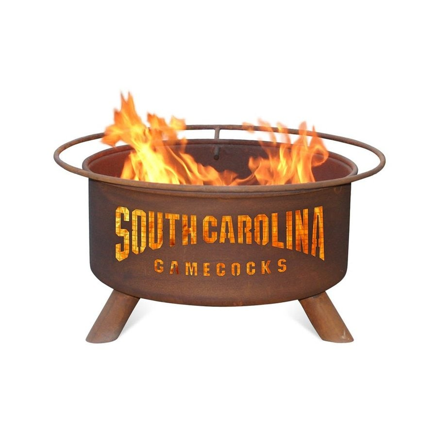Patina Products University of Southern Carolina Gamecocks 24-in W Natural Rust Steel Wood-Burning Fire Pit