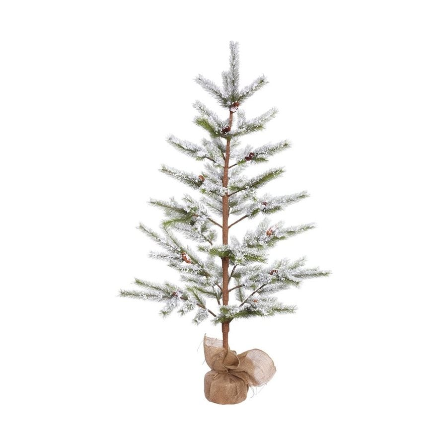 Vickerman 5-ft Desert Pine Slim Flocked Artificial Christmas Tree