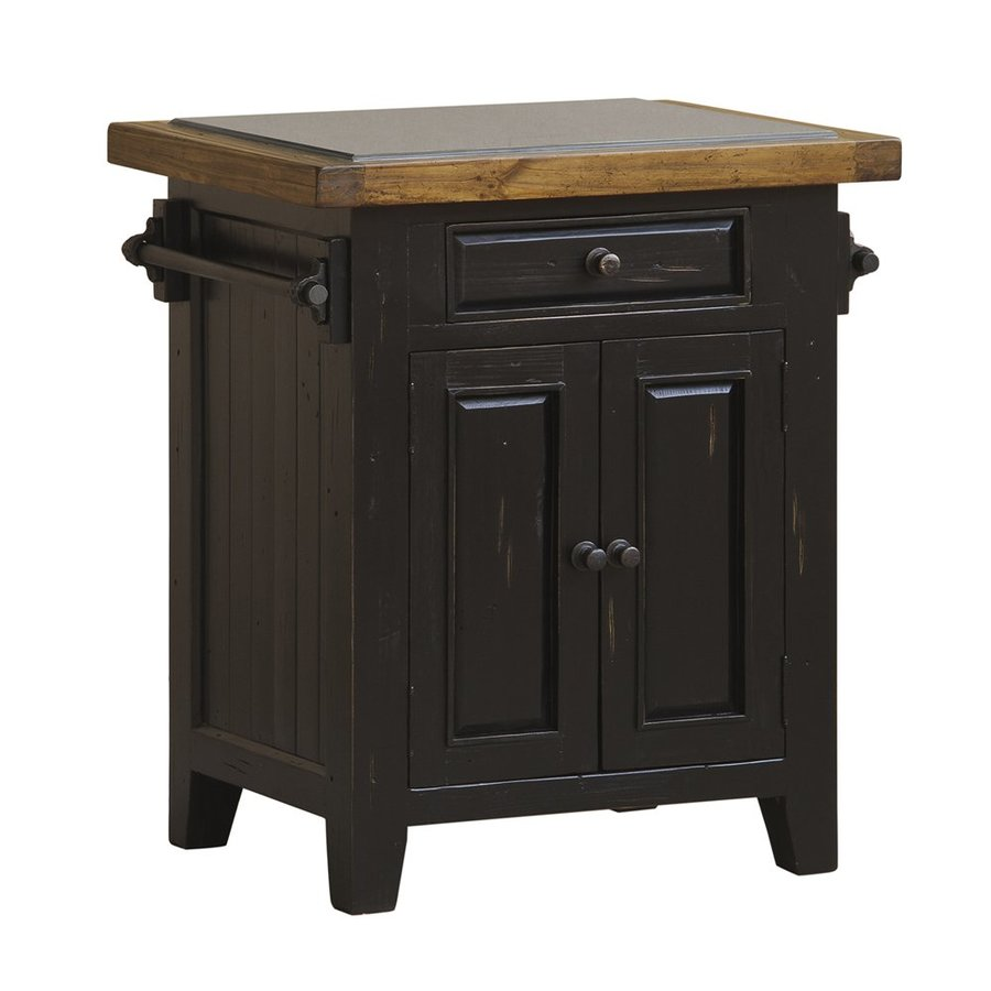 Hillsdale Furniture Black Farmhouse Kitchen Island