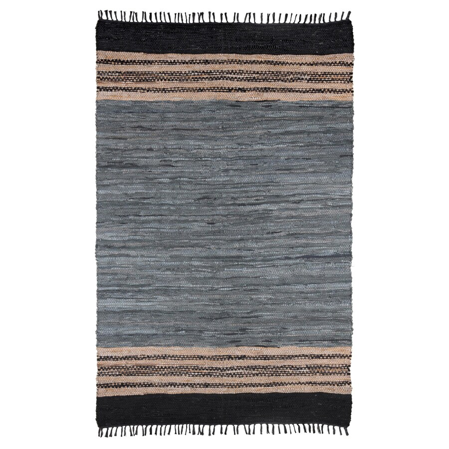 ST CROIX TRADING Matador Gray Rectangular Indoor Woven Southwestern Area Rug (Common: 4 x 6; Actual: 4-ft W x 6-ft L)