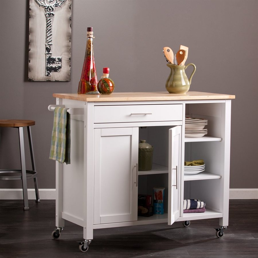 kitchen island furniture. Boston Loft Furnishings White Craftsman Kitchen Island Shop Islands  Carts at Lowes com