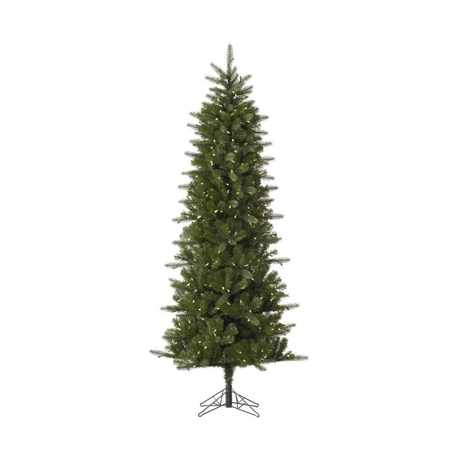 Vickerman 7.5-ft Pre-lit Slim Artificial Christmas Tree with 450 Constant Warm White LED Lights