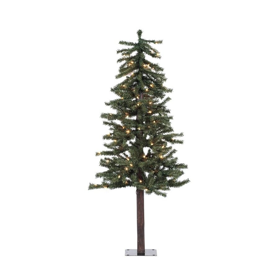 4 Ft White Christmas Trees Artificial: Vickerman 4-ft Pre-lit Alpine Slim Artificial Christmas