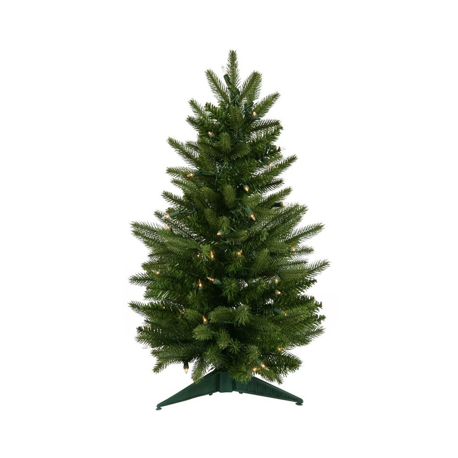 Vickerman 2-ft Pre-Lit Frasier Fir Slim Artificial Christmas Tree with White Clear Incandescent Lights