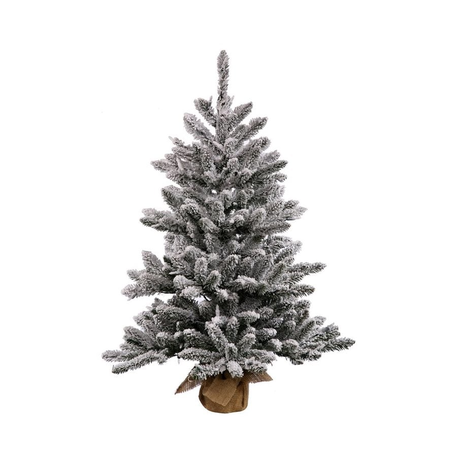 Vickerman 3-ft Anoka Pine Flocked Artificial Christmas Tree