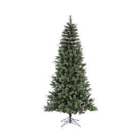 Vickerman 7 Ft Winterberry Flocked Artificial Christmas Tree