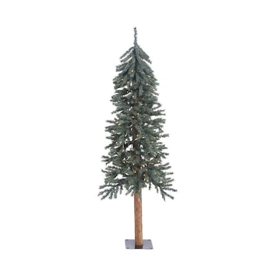 Vickerman Christmas Trees.5 Ft Pre Lit Alpine Slim Artificial Christmas Tree With 150 Constant White Clear Incandescent Lights