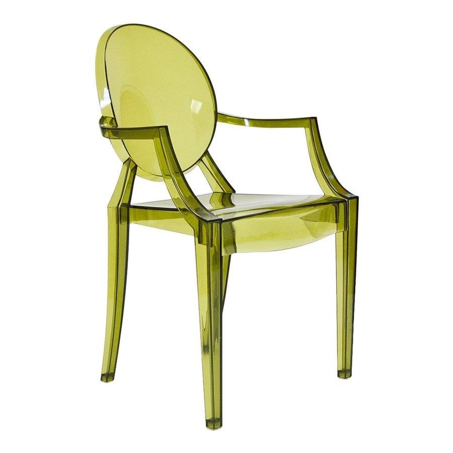 AEON Furniture Specter Modern Translucent Green Plastic Accent Chair