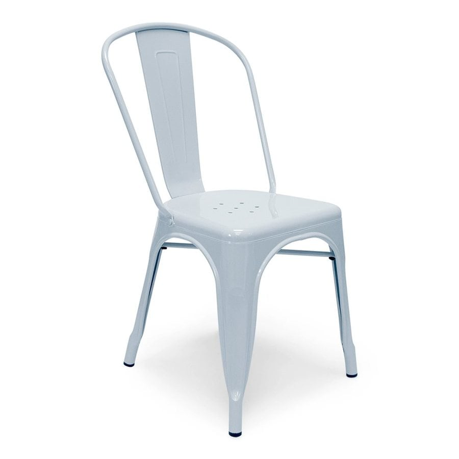 AEON Furniture Set of 2 Garvin Powder Blue Stackable Side Chairs