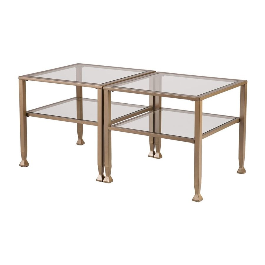 Boston Loft Furnishings Lea Clear Glass Square Coffee Table