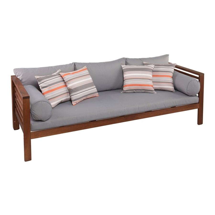 Boston Loft Furnishings Dharma Solid Oiled Eucalyptus Sofa