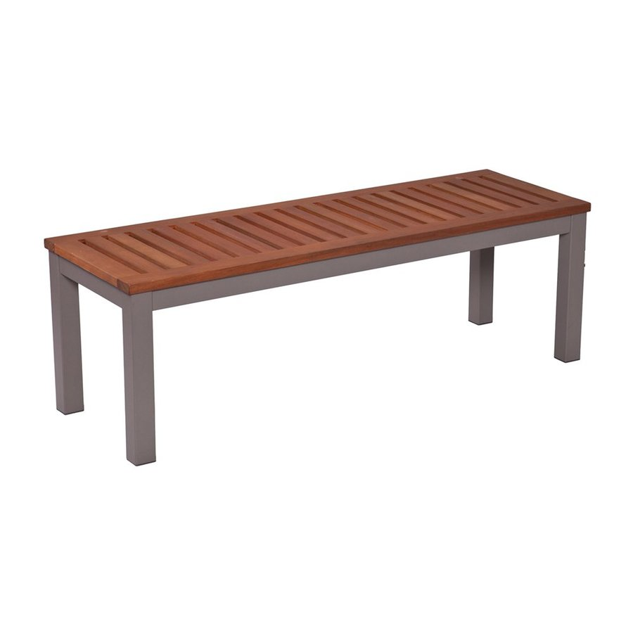 Boston Loft Furnishings Aberdeen 17.75-in W x 50.75-in L Gray Eucalyptus Patio Bench
