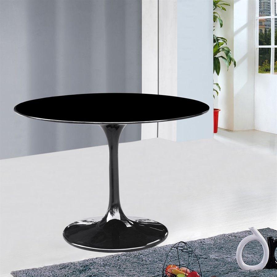 Fine Mod Imports Flower Black Round Bistro Table