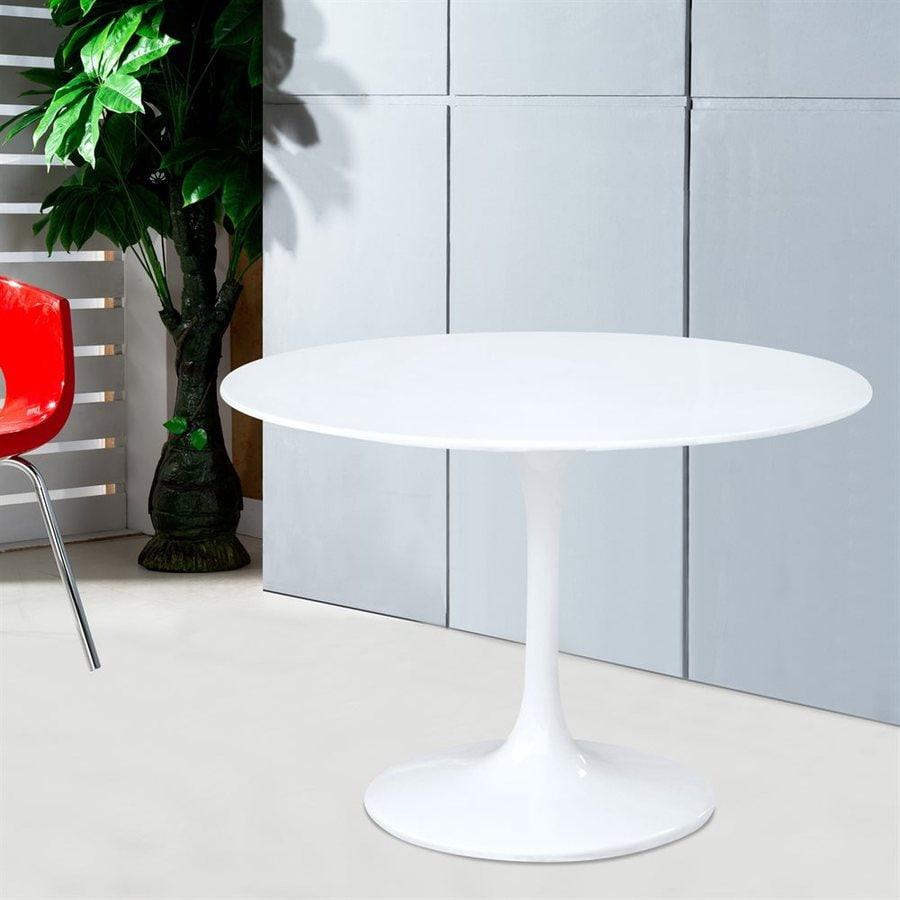 Fine Mod Imports Flower White Round Bistro Table