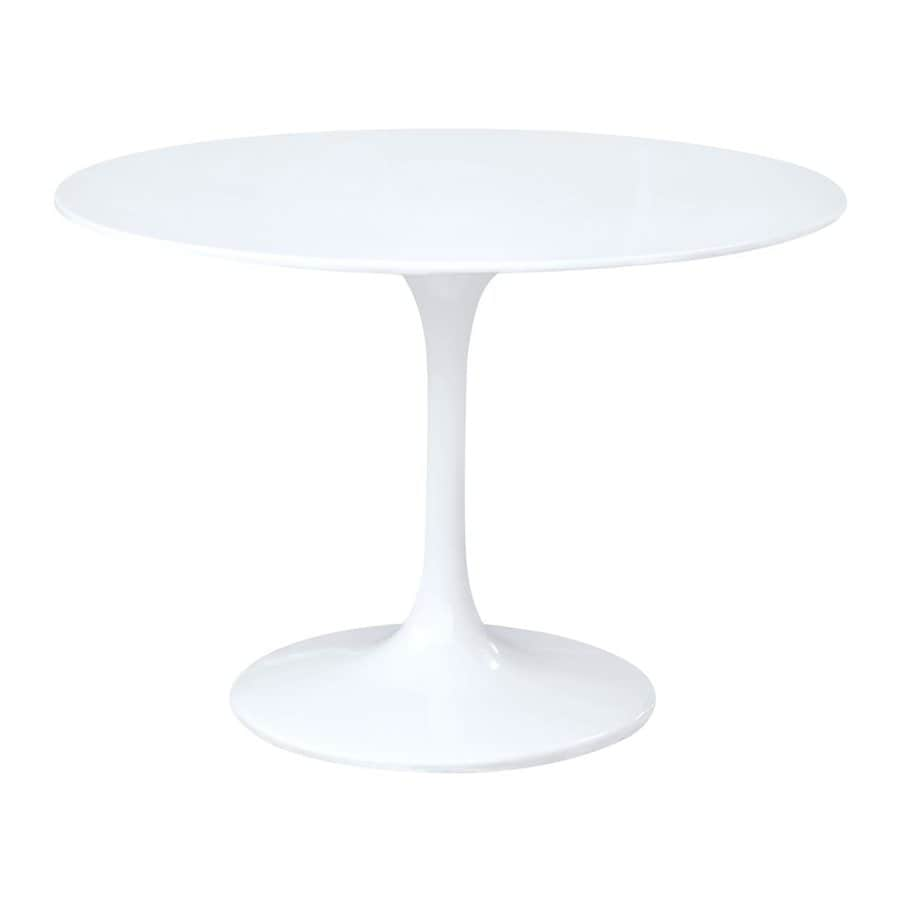 Fine Mod Imports Flower White Round Dining Table